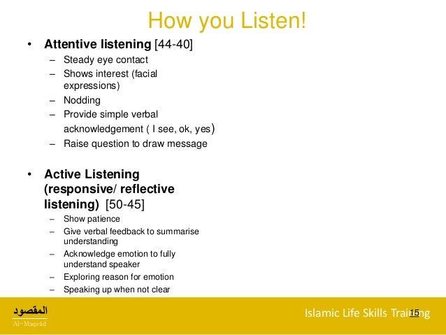 Active listening skills definition of active listening.
