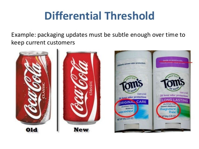 absolute thresholds and differential thresholds Consumer behaviour  sensory thresholds - absolute and differential two of the most complicated terms in this chapter are under the heading, sensory.