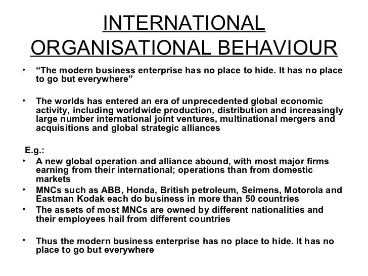 session international ob international organisational behaviour 19