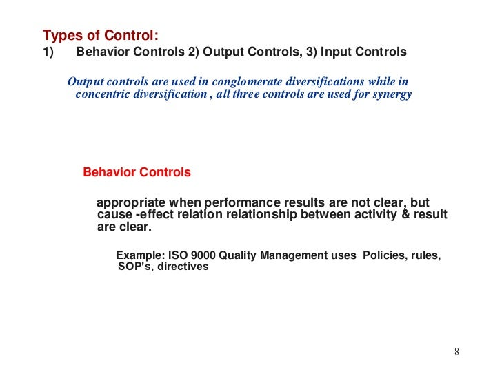 what are some examples of behavior controls output controls input controls Application controls versus it general controls  2 complex  themselves will have some element of  inherent risk, regardless  controls and a sample audit plan  from input to  storage and to the eventual output4  risk-conscious behavior throughout the  company.