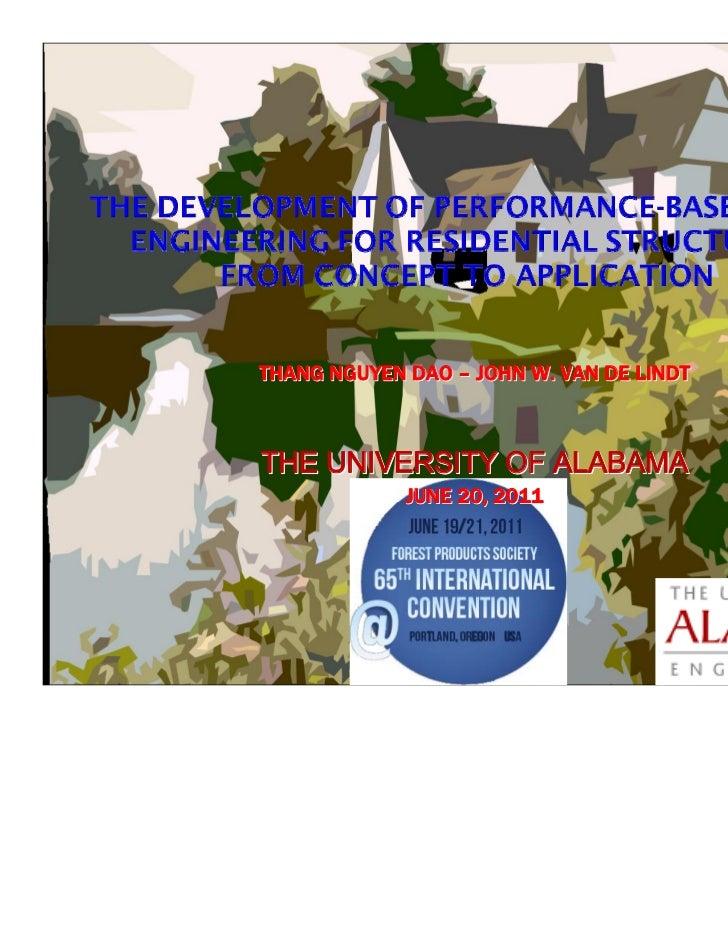 THANG NGUYEN DAO – JOHN W. VAN DE LINDTTHE UNIVERSITY OF ALABAMA             JUNE 20, 2011