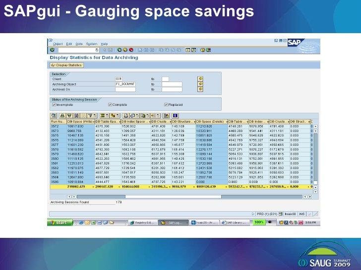 SAPgui - Gauging space savings