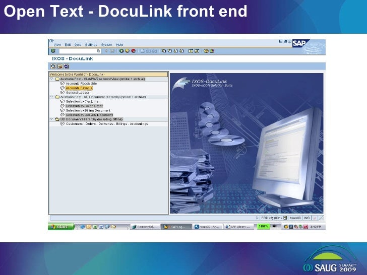 Open Text - DocuLink front end