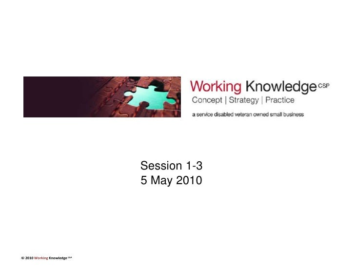 Session 1-35 May 2010<br />