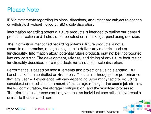 #ibmimpact #mqlight #elasticmq Please Note IBM's statements regarding its plans, directions, and intent are subject to cha...