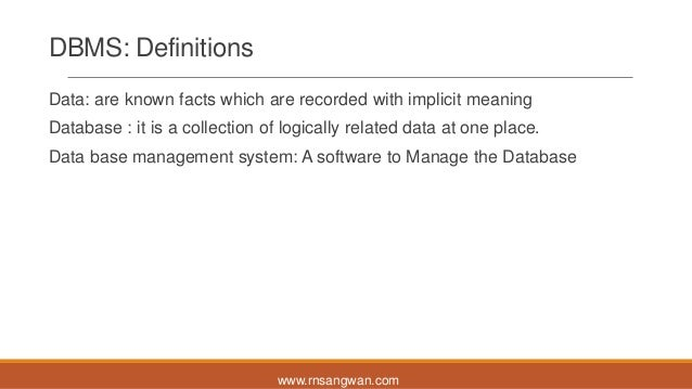 Mysql Session 1 Dbms Rdbms And Normalization