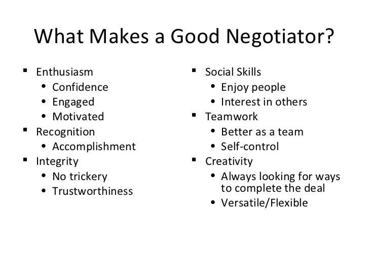 Top Ten Effective Negotiation Skills