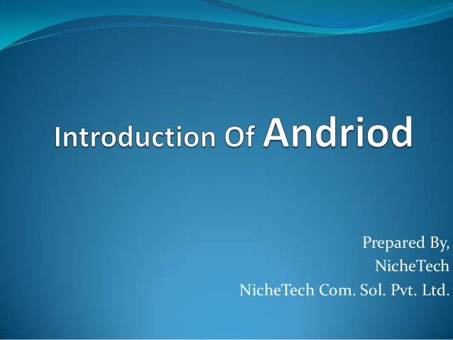 Prepared By, NicheTech NicheTech Com. Sol. Pvt. Ltd.