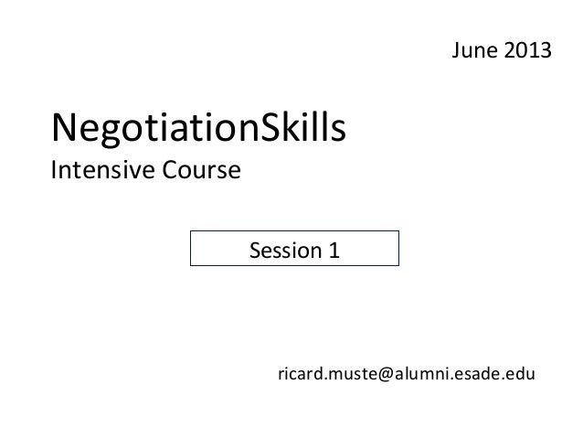 a course on negotiation skills Develops your understanding and confidence to negotiate well with clients,  suppliers, other external and internal business.