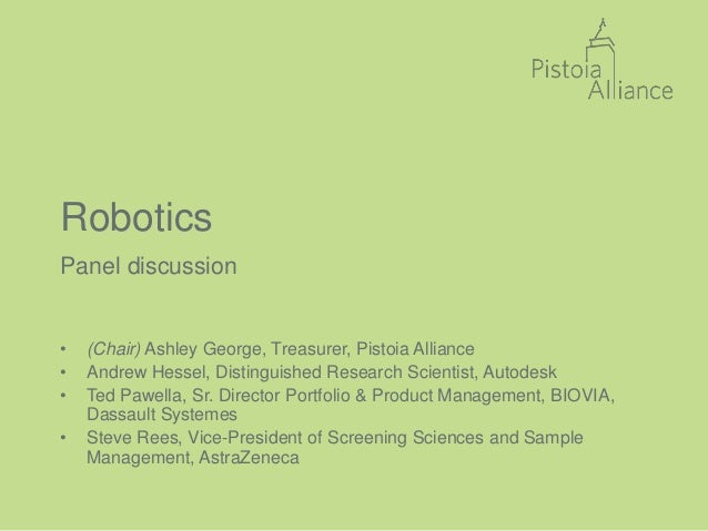 Pistoia Alliance conference April 2016: Robotics: Introduction