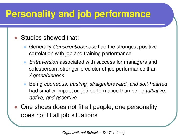 the big five personality dimensions and job performance pdf