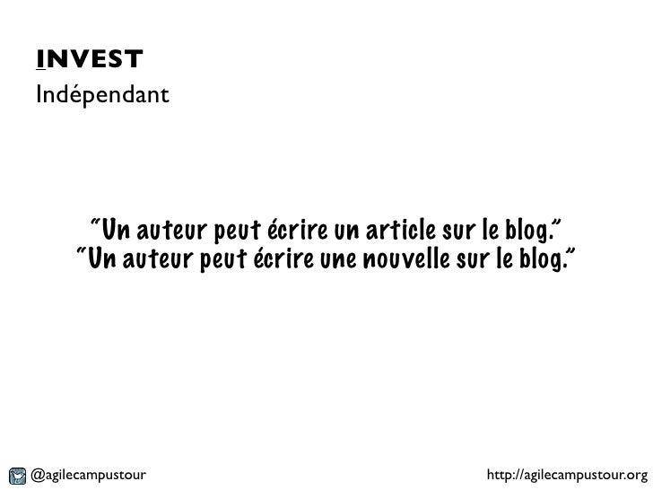 """INVESTIndépendant       """"Un auteur peut écrire un article sur le blog.""""      """"Un auteur peut écrire une nouvelle sur le bl..."""