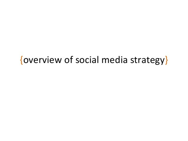 {overview of social media strategy}