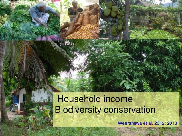 Household income Biodiversity conservation Weerahewa et al. 2012; 2013