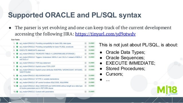 M 18 Migrating from Oracle and Handling PL/SQL Stored Procedures