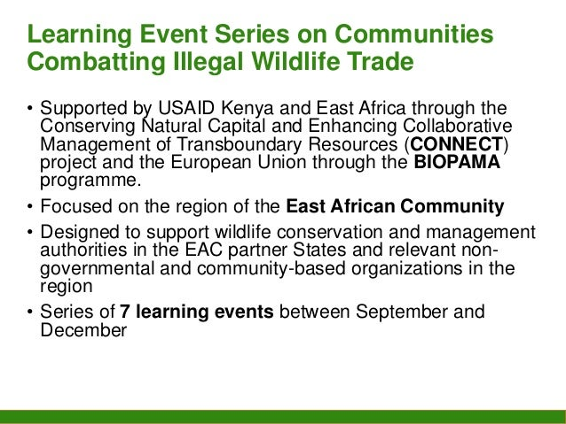 Communities Combatting Illegal Wildlife Trade: online learning series for the East African Community region session two Slide 2