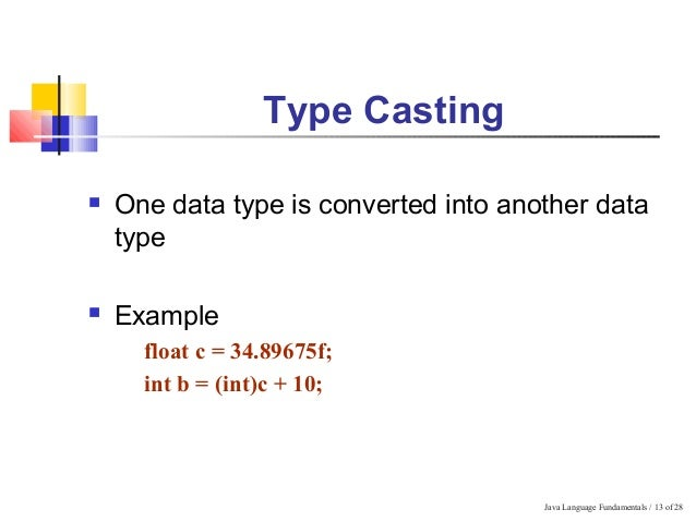 TYPE CASTING IN JAVA WITH EXAMPLE PDF DOWNLOAD