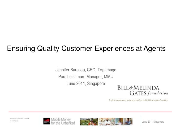 Ensuring Quality Customer Experiences at Agents<br />Jennifer Barassa, CEO, Top Image<br />Paul Leishman, Manager, MMU<br ...