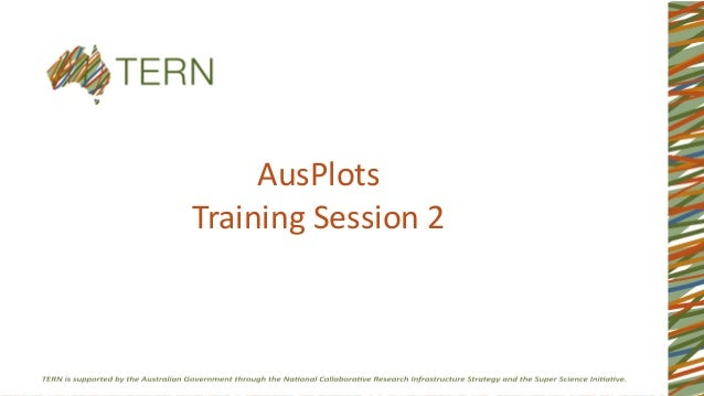 AusPlots Training Session 2