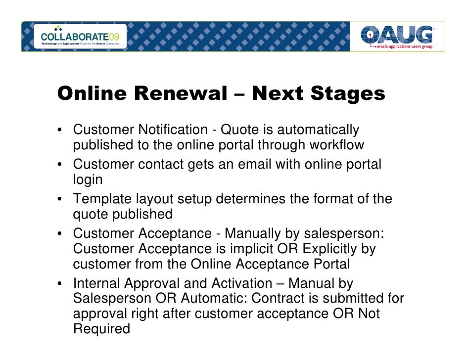 Oracle service contracts lifecycle management workflow activates the contract 14 online renewal thecheapjerseys Images
