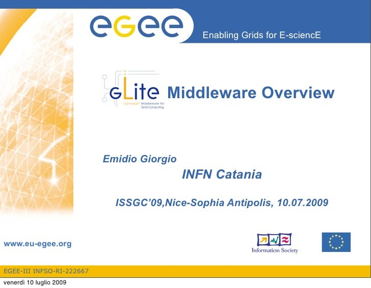 Enabling Grids for E-sciencE                                            Middleware Overview                              E...