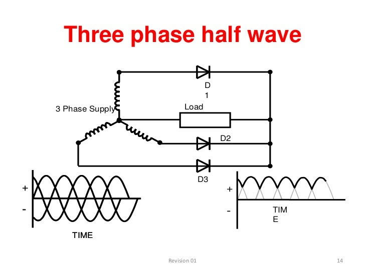 three phase half wave rectifier circuit diagram