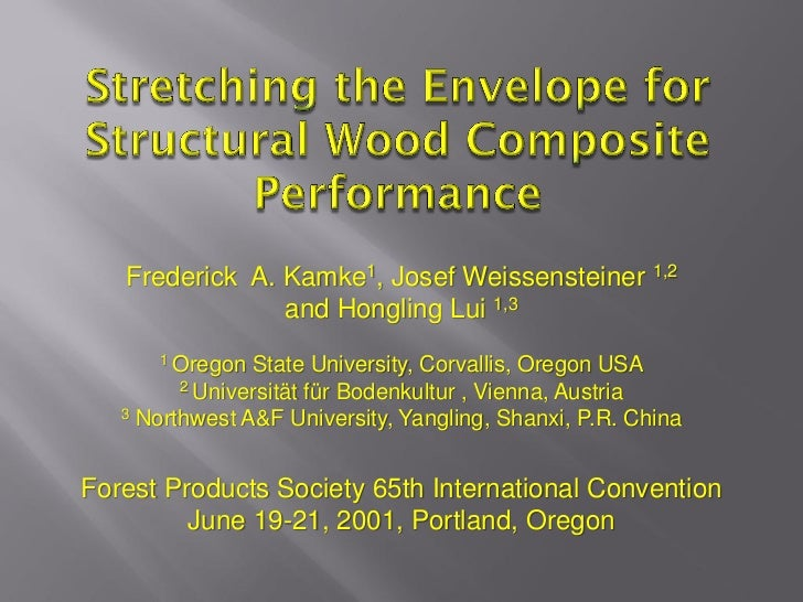 Frederick A. Kamke1, Josef Weissensteiner 1,2                and Hongling Lui 1,3      1 Oregon  State University, Corvall...