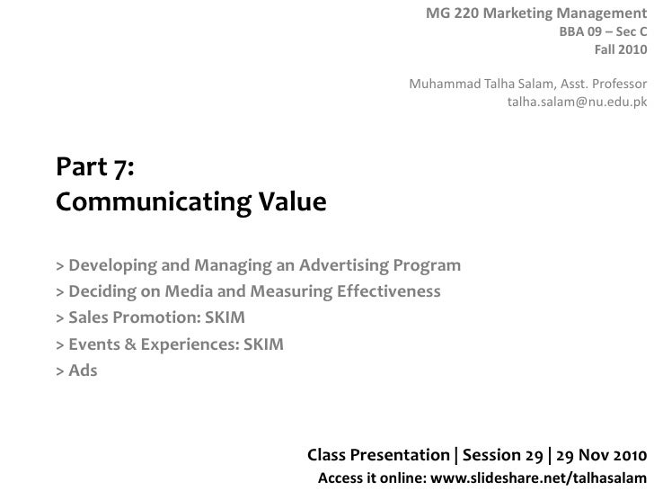 Part 7:Communicating Value<br />> Developing and Managing an Advertising Program<br />> Deciding on Media and Measuring Ef...