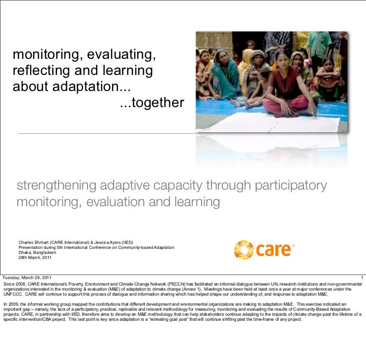 monitoring, evaluating,     reflecting and learning     about adaptation...                       ...together       streng...