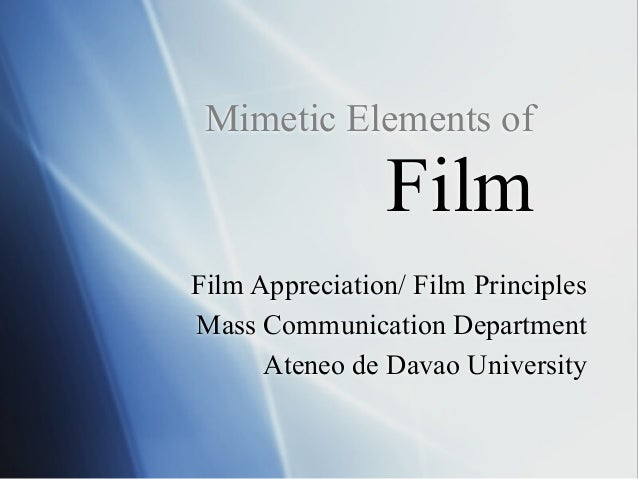 Mimetic Elements of