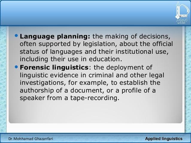 Institutional linguistics