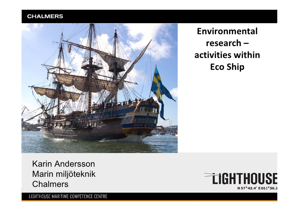 Environmental                       research–                    activitieswithin                        EcoShipKarin...