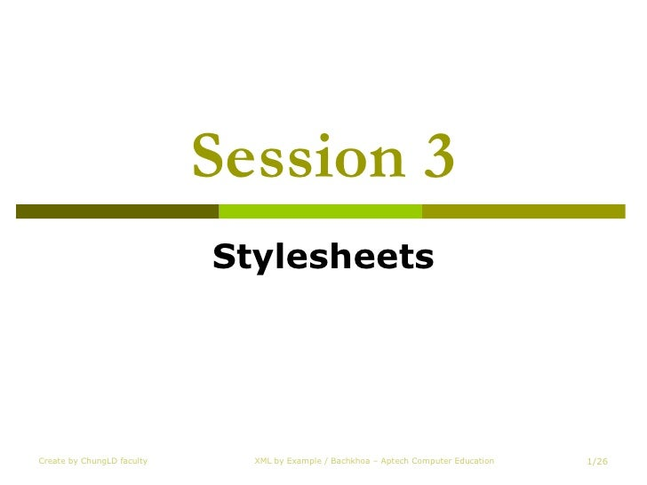 Session 3 Stylesheets