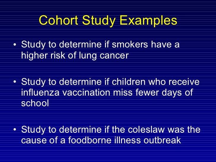Cohort study Essay Example | Graduateway