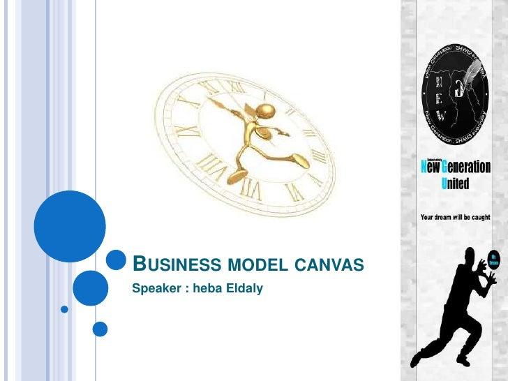 BUSINESS MODEL CANVASSpeaker : heba Eldaly