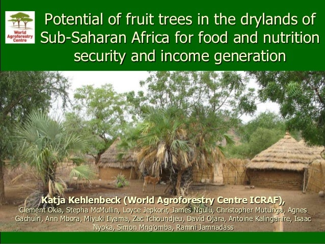 Potential of fruit trees in the drylands of Sub-Saharan Africa for food and nutrition security and income generation Katja...