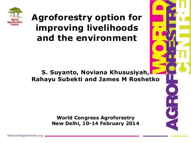Agroforestry option for improving livelihoods and the environment S. Suyanto, Noviana Khususiyah, Rahayu Subekti and James...