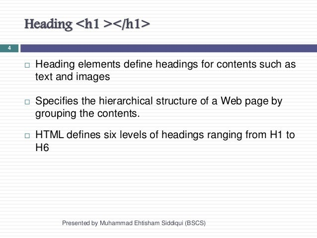 Formatting of a Text in Html (Session 3)