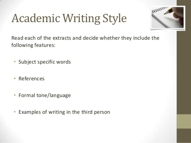 4 features of academic writing style
