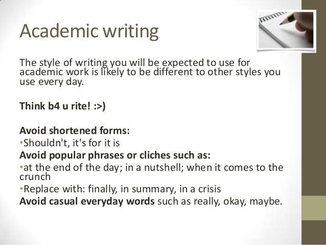 How to use academic writing style