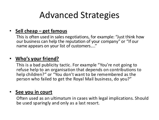Session 3. advanced negotiation strategies