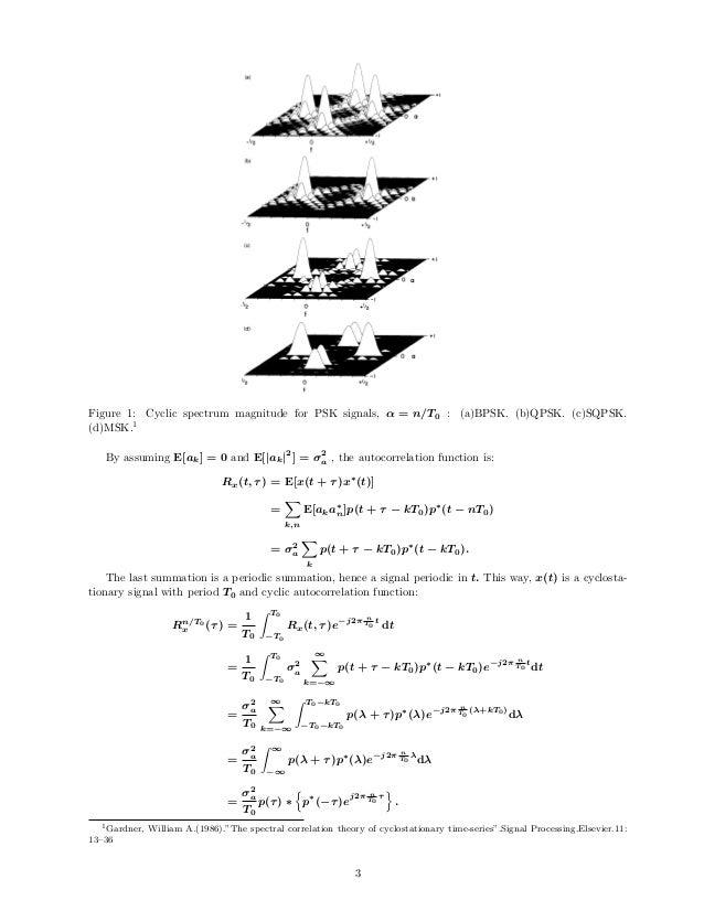 W.A. Gardner / Cyclostationary time-series 33 (a) - I/2 0 + I/2 f +1 -I/2 0 + I/2 f +1 . I/2 0 + I/2 f •I/2 +1 0 + I/2 f F...