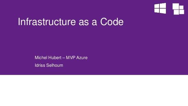 Michel Hubert – MVP Azure Idriss Selhoum Infrastructure as a Code