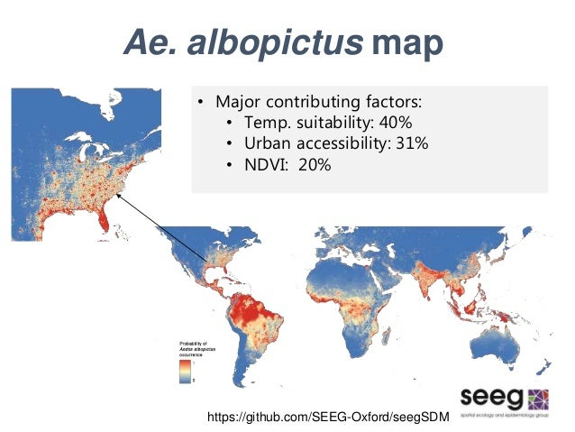 Global distribution maps of the arbovirus vectors ae aegypti and ae 31 ae albopictus map sciox Gallery