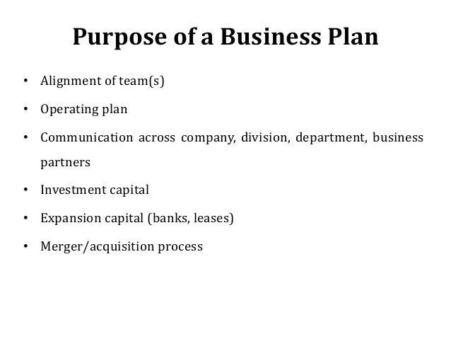 Blue Print; 3. Purpose Of A Business Plan ...