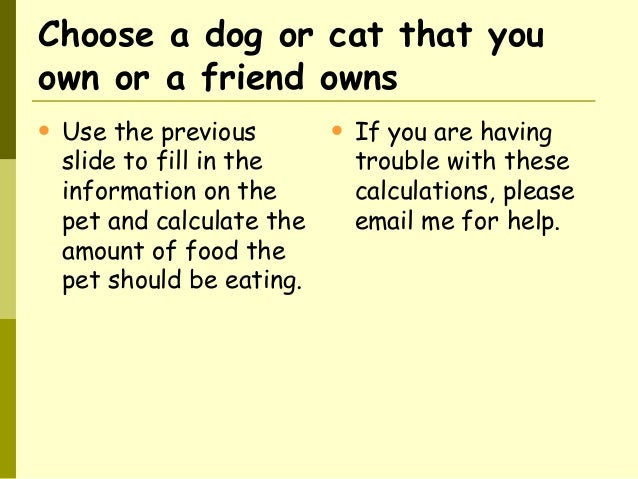 Calculate Carbohydrates In Cat Food