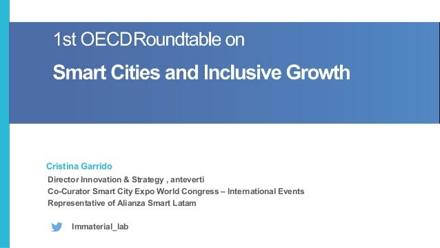 Director Innovation & Strategy , anteverti Co-Curator Smart City Expo World Congress – International Events Representative...