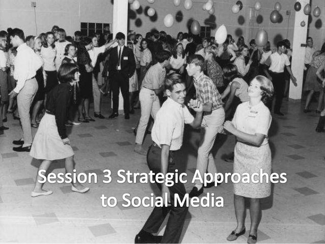 Session 3 Strategic Approaches       to Social Media