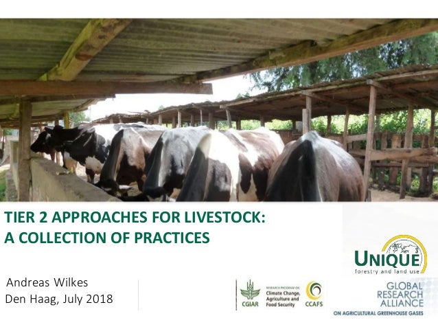 TIER 2 APPROACHES FOR LIVESTOCK: A COLLECTION OF PRACTICES Andreas Wilkes Den Haag, July 2018