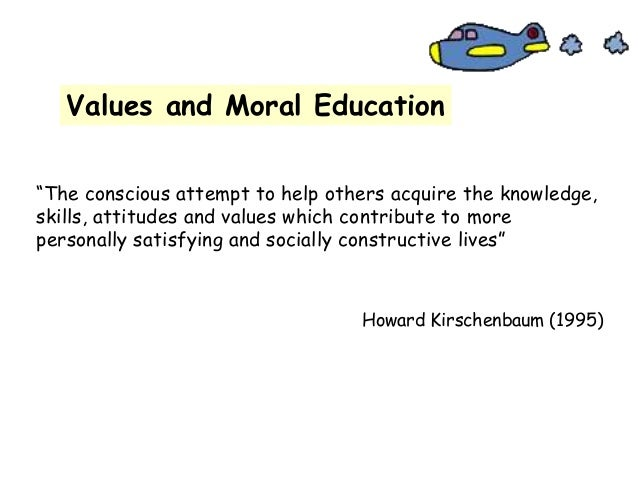 Values and moral development in education